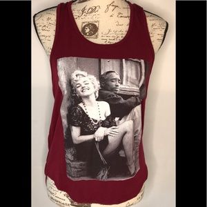 Marilyn Monroe Graphic Tee Wine Size Small